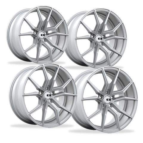 Corvette Wheels - XO Luxury - Verona (Set) : Brushed Silver, C5, C6, C7-Custom Wheels-XO Luxury Wheels