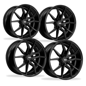 Corvette Wheels - XO Luxury - Verona (Set) : Matte Black, C5, C6, C7-Custom Wheels-XO Luxury Wheels