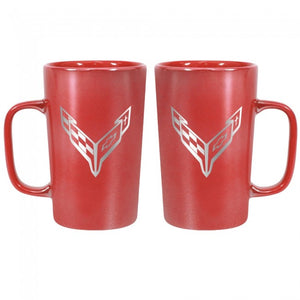 Next Generation Corvette 16 oz Ceramic Mug - Red