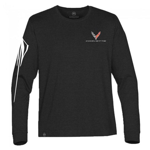 Next Generation Corvette Stingray Gesture Jersey T-Shirt : Black-T-shirts-Burston Marketing
