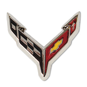 "Next Generation C8 Corvette Lapel/Hat Pin Limited Edition 1.5"" - Silver/Chrome"