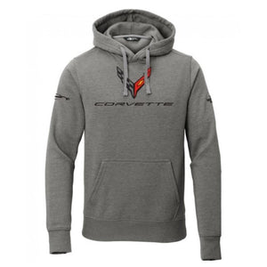 Next Generation Corvette Hooded Pullover Sweatshirt : Heather Gray