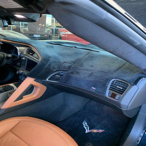 Velour Dash Mat - Custom Fit : 2014-2019 C7 STINGRAY, Z51, Z06, GRAND SPORT, ZR1-Dash Kits & Accessories-Coverking Car Covers