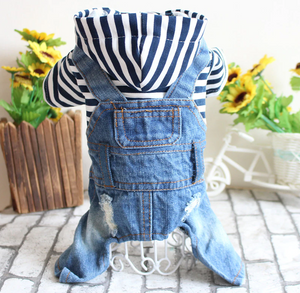French Bulldog Denim Jumpsuit