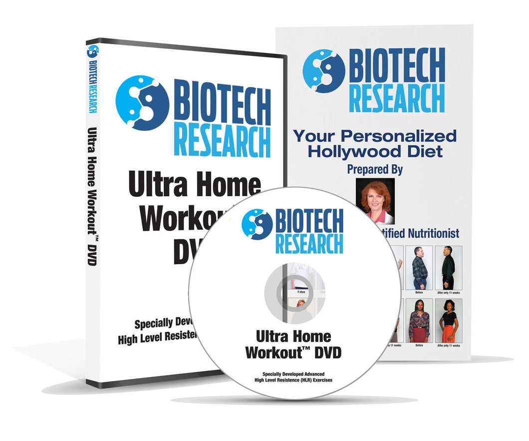 Biotech Research® Ultra Home Workout with FREE Hollywood Diet