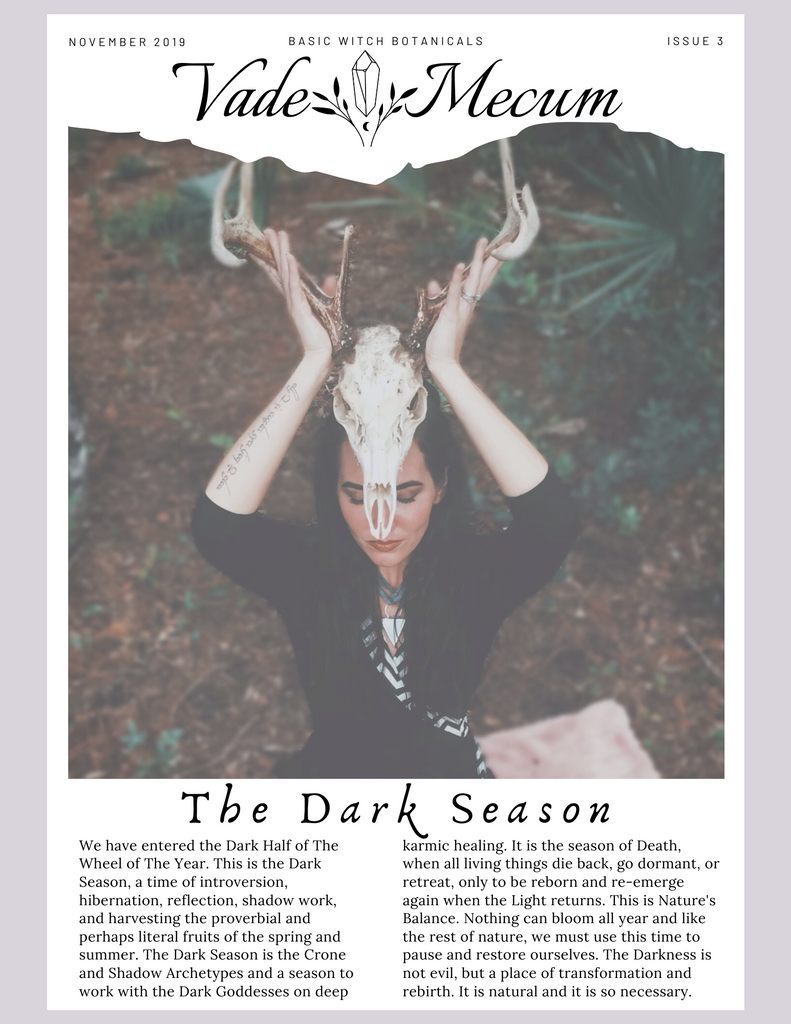 November 2019 // The Dark Season, Artemis, + Mugwort