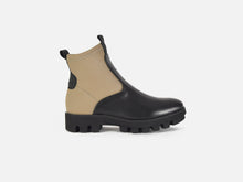 pregis black leather khaki neoprene extralight sole contemporary chelsea boot made in portugal