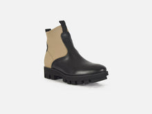 pregis black leather khaki contemporary chelsea boot designed in London made in portugal