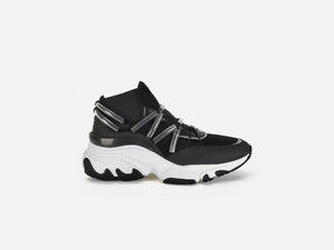 pregis shoes dista black leather clear tubes runner sneakers designed in London