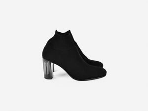 pregis fee black sock contemporary mid heel designed in London made in portugal