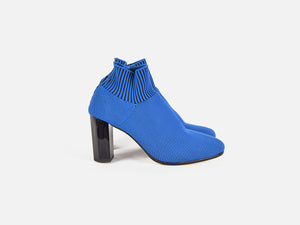 pregis fee blue sock contemporary mid heel designed in London made in portugal