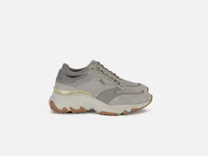 pregis kayo grey leather oversized runner sneaker made in portugal