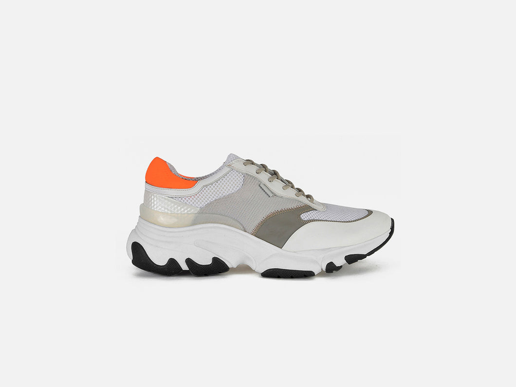 pregis kayo white orange oversized runner sneaker made in portugal