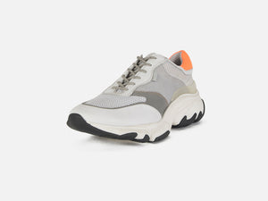 pregis kayo white orange oversized runner sneaker designed in London