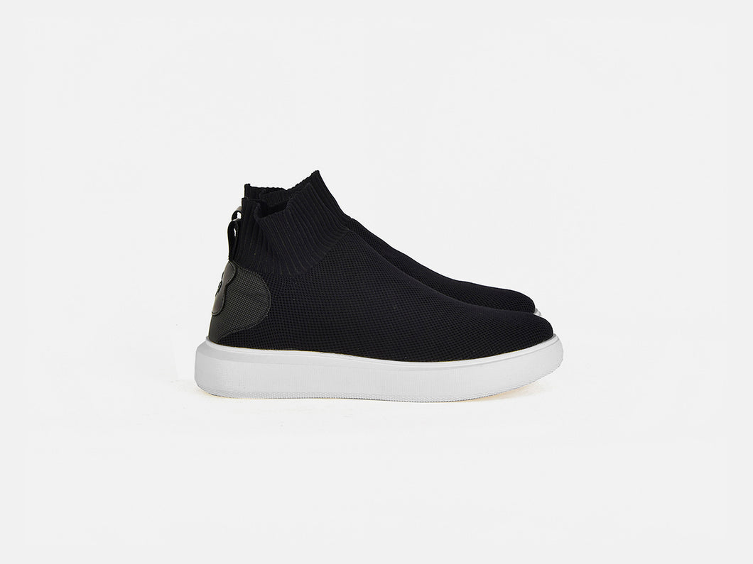 pregis payton black sock cupsole sneakers made in portugal