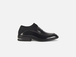 pregis rorke black sock loafer designed in London