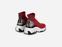 pregis ryder red sock oversized runner sneaker made in Portugal