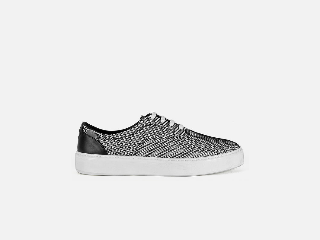pregis wing grey mesh cupsole sneakers designed in London