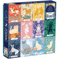 zodiac cats 500 piece jigsaw
