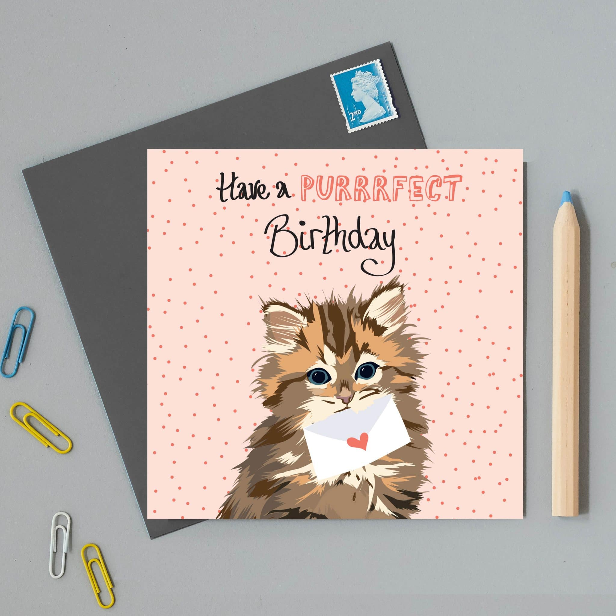 Have a Purrrfect Birthday Cat Card