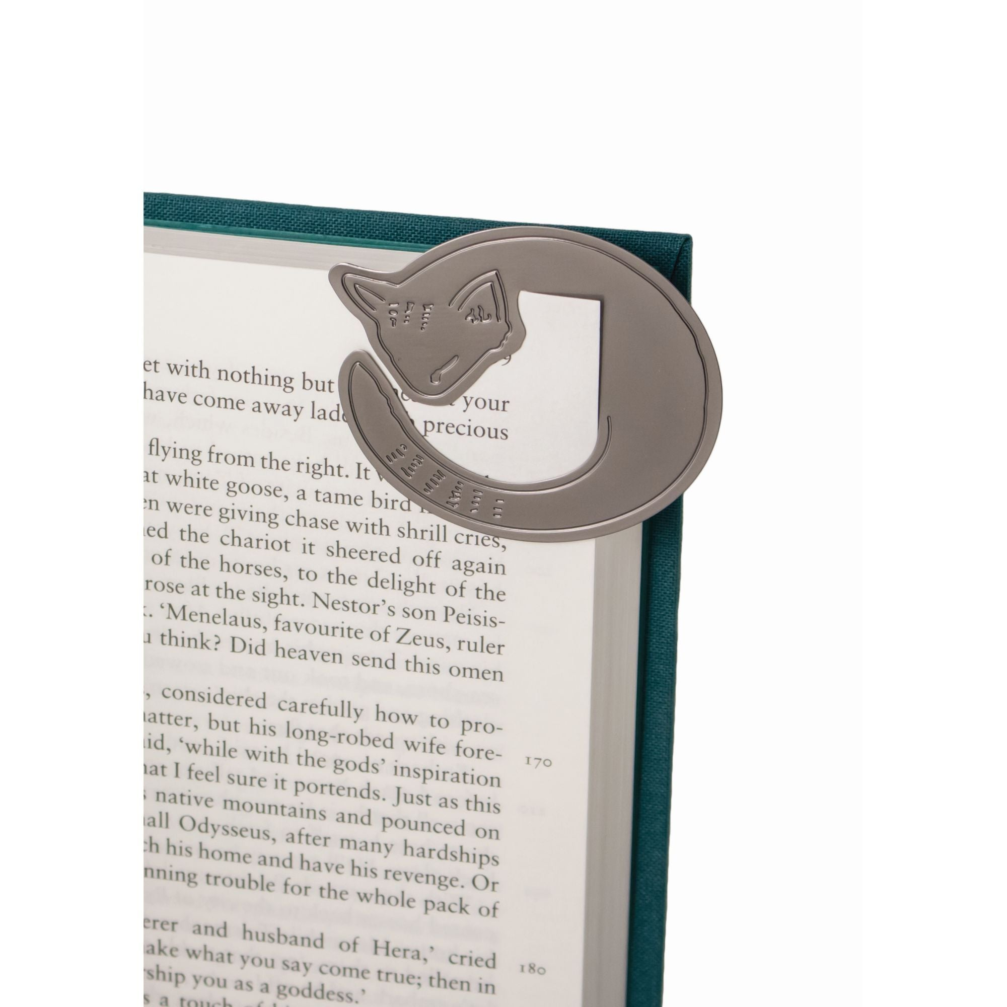 Cosy Cat metal corner bookmark