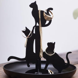 Black Cats Jewellery Stand
