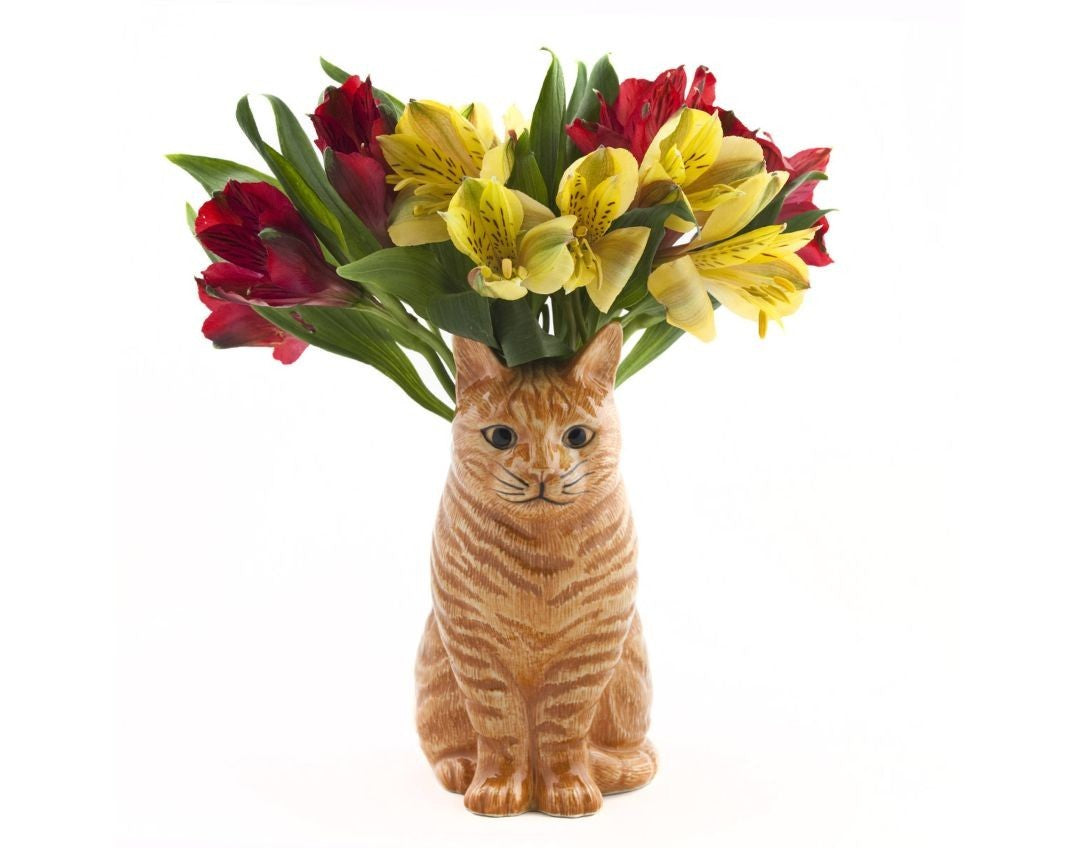 Ginger Cat Vase