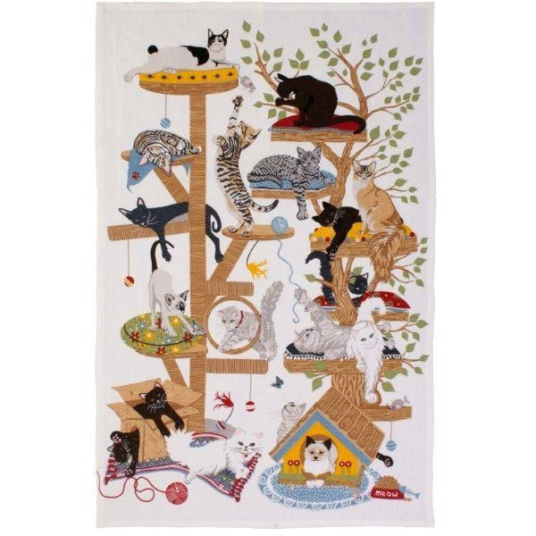 Moggie Mayhem Tea Towel