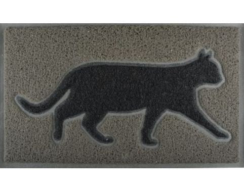 Black Cat Outdoor Doormat