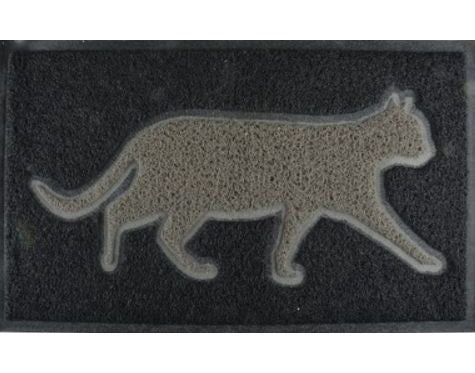 Grey Cat Outdoor Doormat