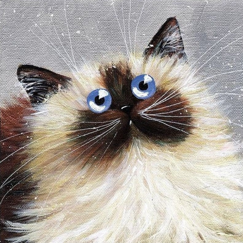 Blue Eyes Greetings Card by Kim Haskins