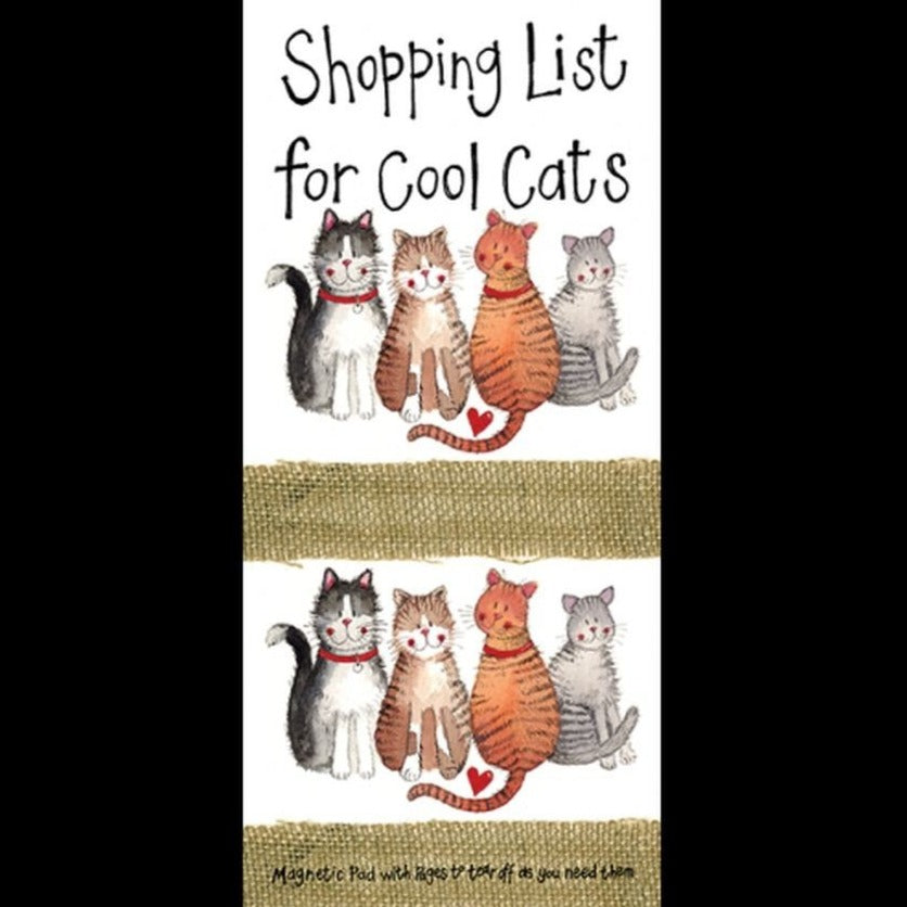 Cool Cats Magnetic Shopping List Pad