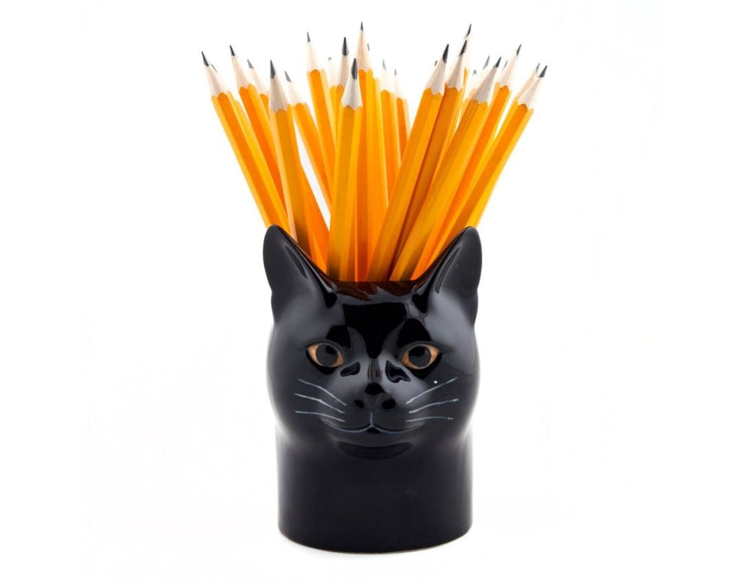 Black Cat Pencil Pot