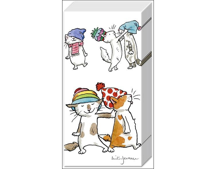 Cats in Hats Festive Tissue pack
