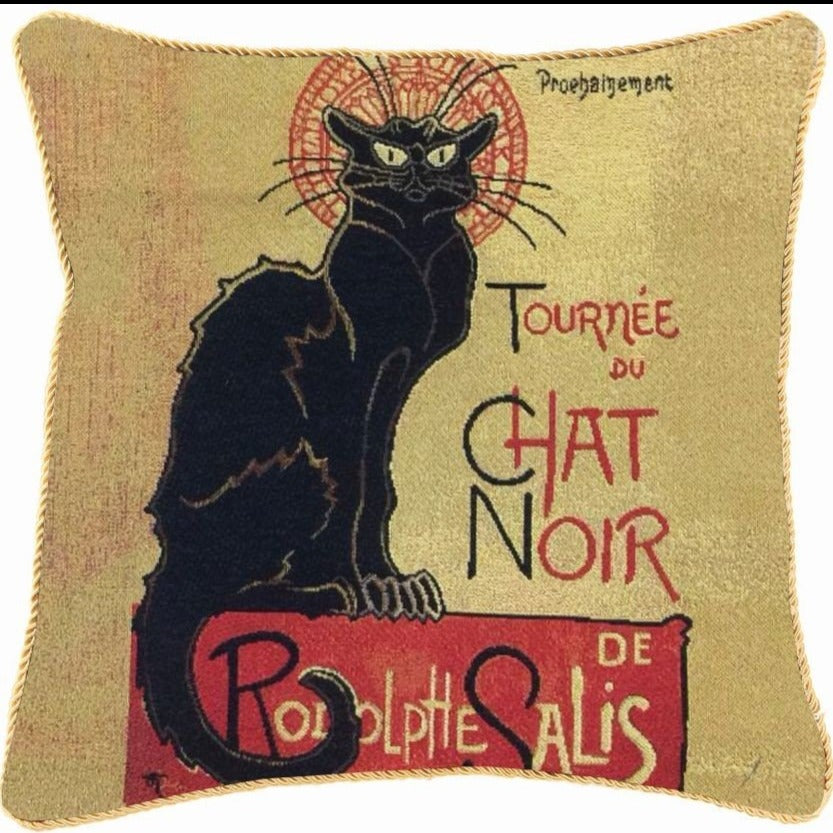 Chat Noir Tapestry Cushion