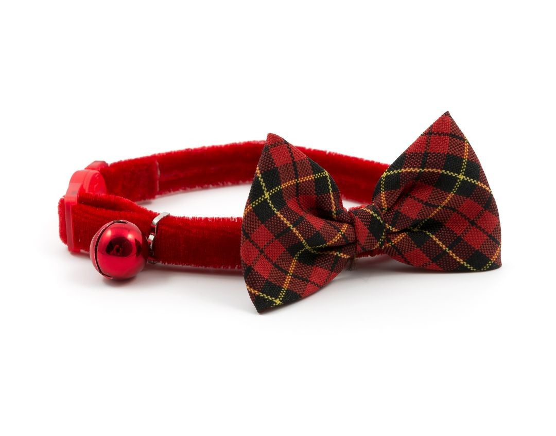 Tartan Bow Tie Cat Collar