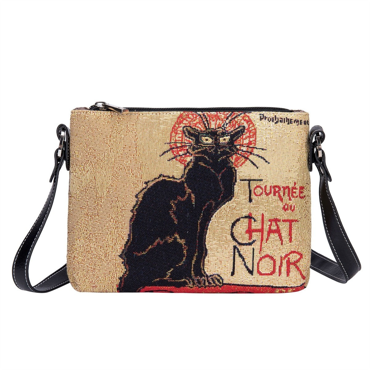Chat Noir Tapestry Cross Body Bag