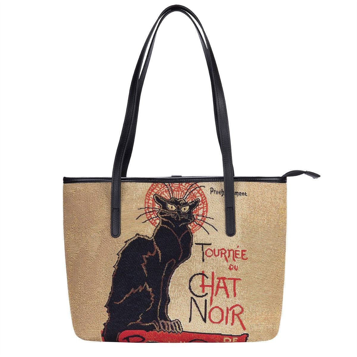 Chat Noir Tapestry Shoulder Bag
