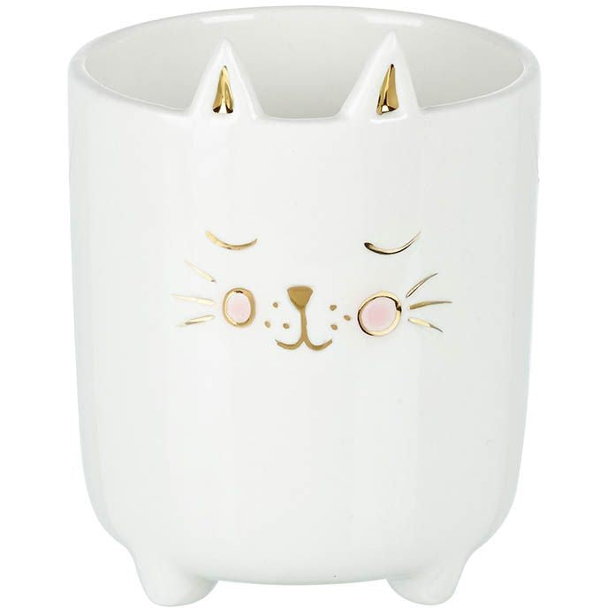 Porcelain Cat Face Plant Pot