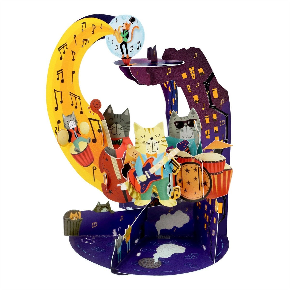 Jazz Cats Pendulum Card