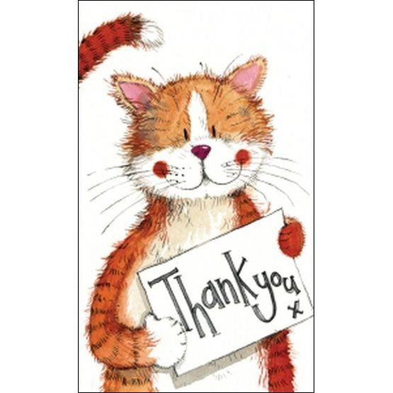 Ginger Cat Thank You Notecards