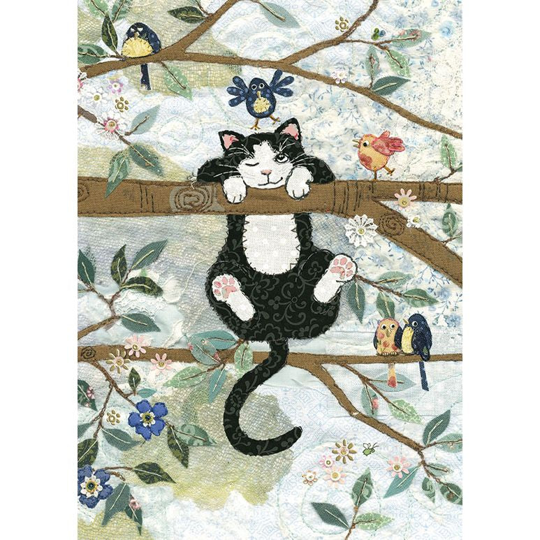 Tree Cat Card A031 by Bug Art