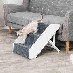 Adjustable wooden pet steps