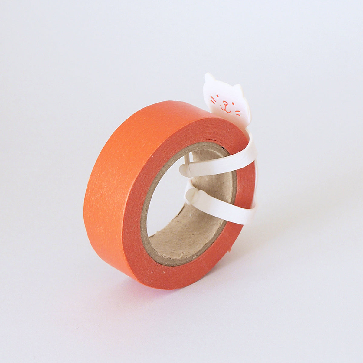 White Cat Washi Tape Dispenser