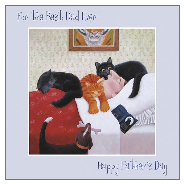 Fathers Day card for a cat loving Dad