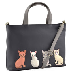 Best Friends Leather Handbag