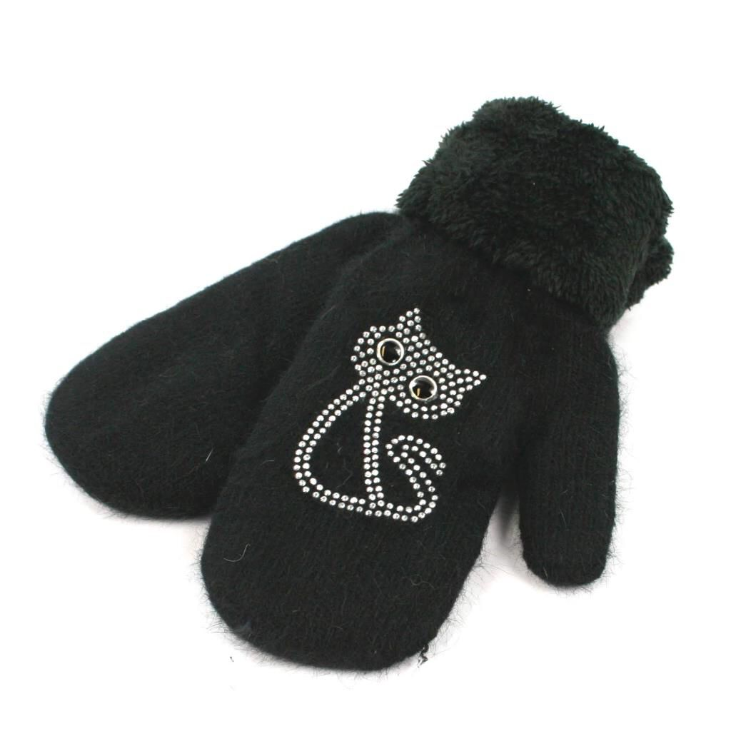 Black Cat Cosy Mittens