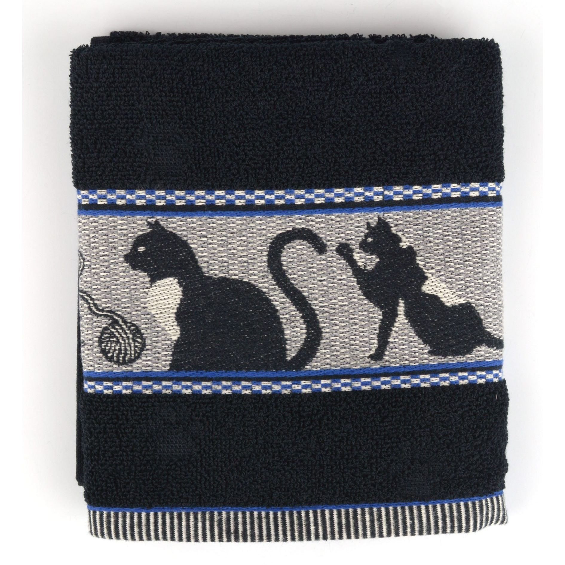 Black cats black hand Towel
