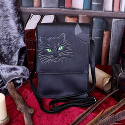 Black Cat Embossed Cross body Bag