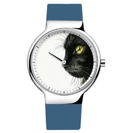 Luxury Black Cat Wrist Watch